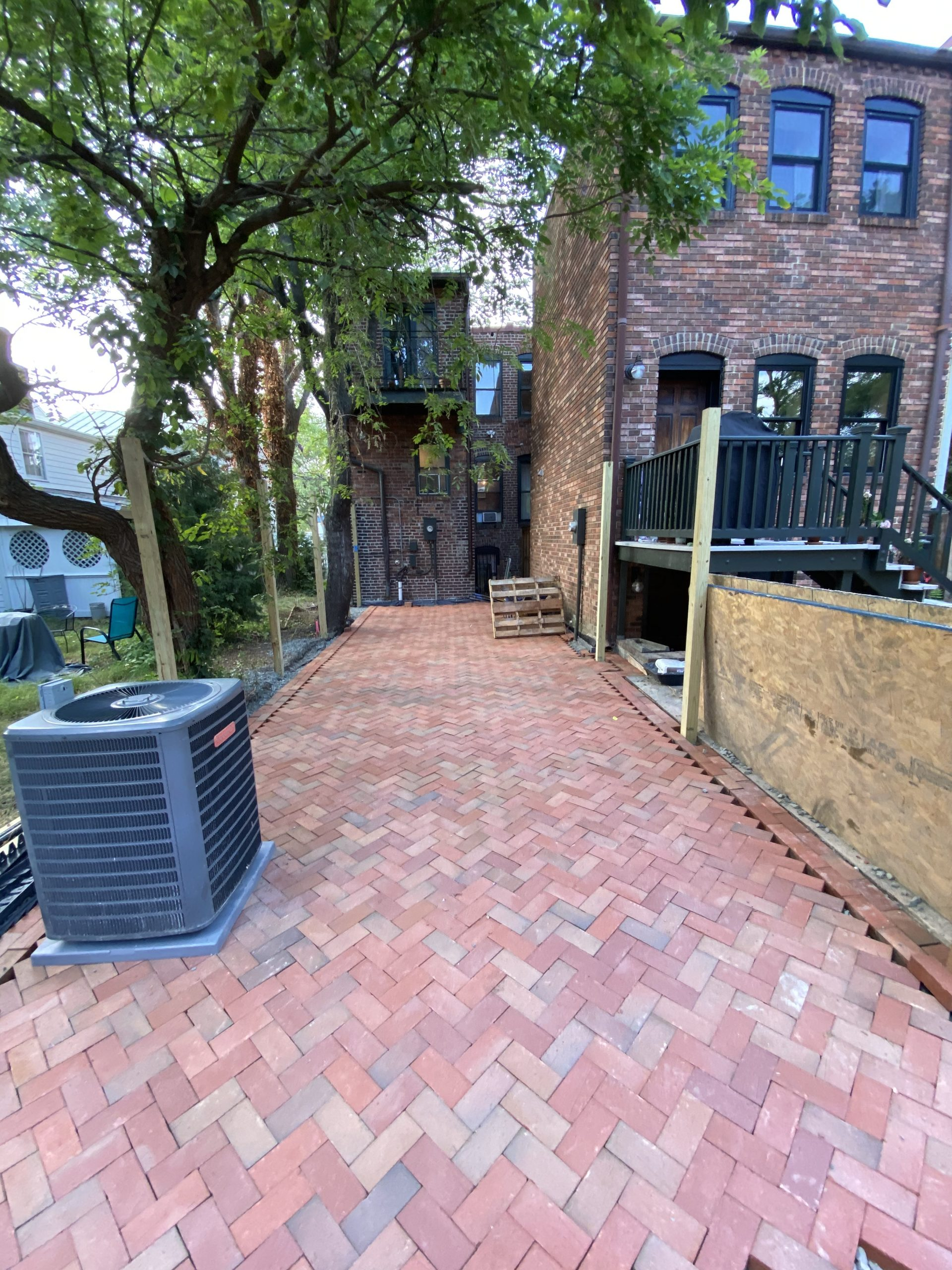 Old Town Permeable Patio & Fence Installation
