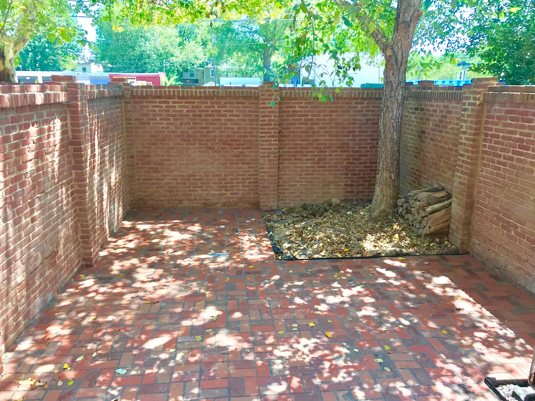 Old Town Brick Permeable Patio Redesign